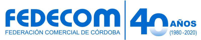 Fedecom solicita al Ministerio la conformación de una mesa de trabajo con intendentes y entidades comerciales del interior